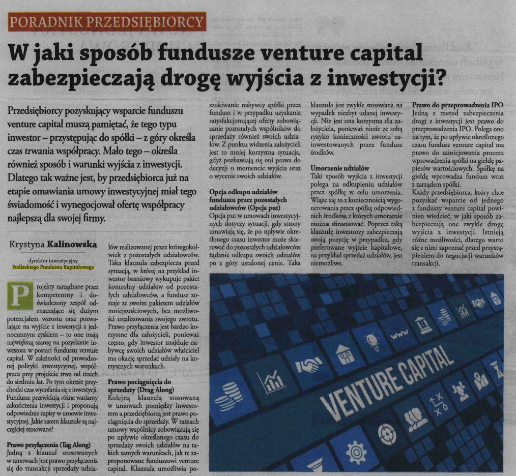 fundusze venture capital